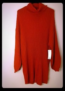 URBAN OUTFITTERS KNIT TURTLENECK SWEATER DRESS